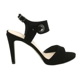 Sandales en cuir sur une épingle Edeo 3208 noir