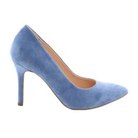 Escarpins sur des chaussures pour femmes Edeo 3313 bleu
