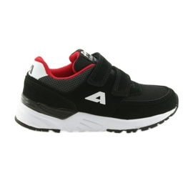 Chaussures de sport à insert en cuir American Club BS09 noir