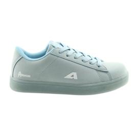 Bleu Semelle intérieure en cuir de chaussures de sport American Club BS07