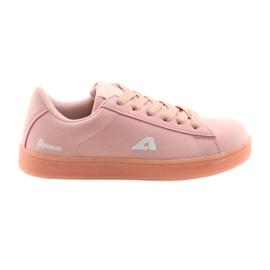Rose Semelle intérieure en cuir de chaussures de sport American Club BS07