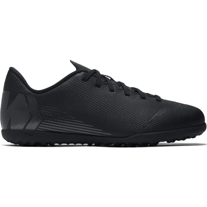 Chaussures de football Nike Mercurial Vapor X 12 Club Tf Jr AH7355-001 noir bleu marine, noir