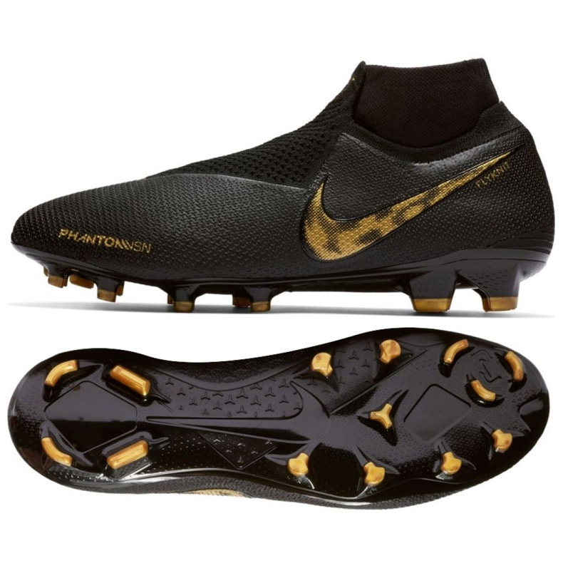 Chaussures de football Nike Phantom Vsn Elite Df Fg M AO3262-077 noir noir