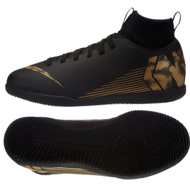 Chaussures d'intérieur Nike Mercurial SuperflyX 6 Club Ic Jr AH7346-077 noir noir