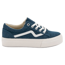 Kylie Baskets Jeans à la Mode bleu
