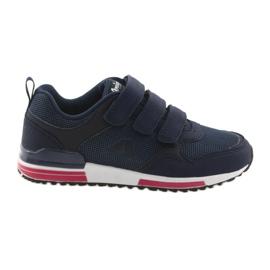 Chaussures de sport en cuir American Club 5 bleu marine