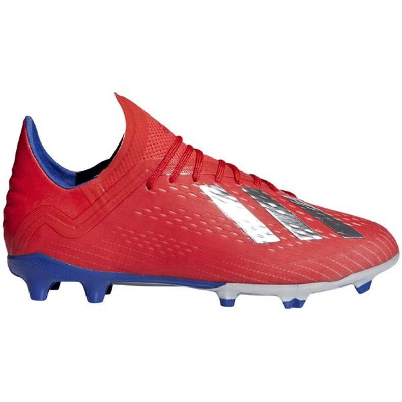 Adidas X 18.1 Fg Jr BB9353 chaussures de football rouge rouge