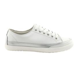 Chaussures de sport tissées pour femme Filippo 703 blanches et argentées