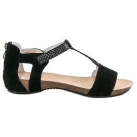 Chaussures en cuir VINCEZA noir