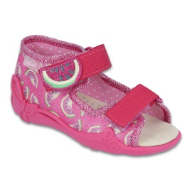 Rose Chaussures enfant jaune Befado 342P004