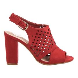 Seastar Sandales montées ajourées rouge