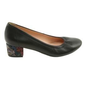 Escarpins chaussures pour femmes en cuir Arka 5627 noir