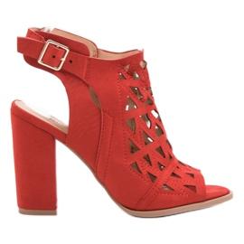 Chc Shoes rouge Sandales montées ajourées
