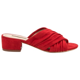 Corina rouge Pantoufles à la mode