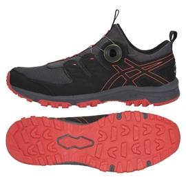 Noir Chaussures de running Asics Gel Fuji Rado M T7F2N-020
