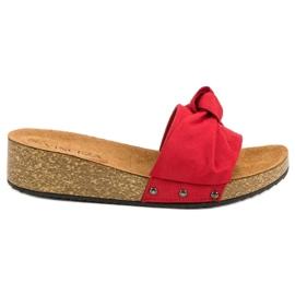 Pantoufles en daim VINCEZA rouge