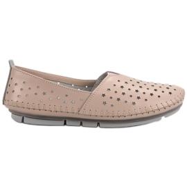 Kylie brun Chaussures femme en cuir