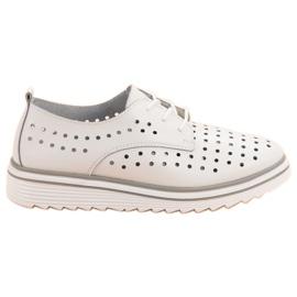 Kylie blanc Chaussures ajourées en cuir