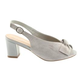 Sandales en cuir suédé Sergio Leone 801 gris
