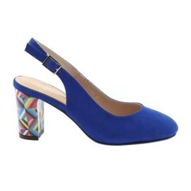 Sandales sur le post Sergio Leone 788 micro indigo bleu