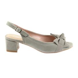 Sandały kokarda Filippo 788 gris / pois