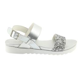 Sandales confortables en argent Filippo 685 gris