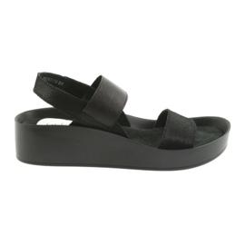 Filippo 767 sandales noires profilées