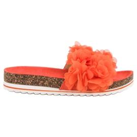 Seastar Pantoufles orange à la mode