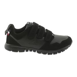 Chaussures de sport à scratch American Club FH16 noir
