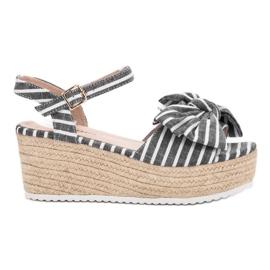 Seastar gris Sandales compensées avec noeud