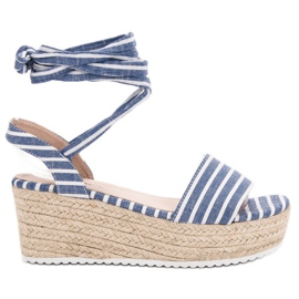Seastar Sandales Avec Ceintures Compensées bleu