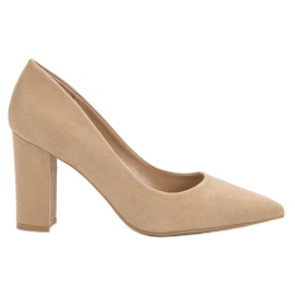 Anesia Paris brun Escarpins beiges