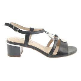 Sandales avec embellissements Caprice 28211 bleu marine