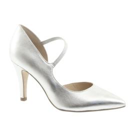 Gris Chaussures à lanière Caprice 24402 argent