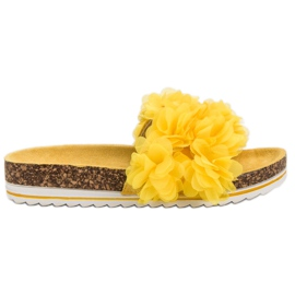 Seastar Pantoufles jaunes à la mode