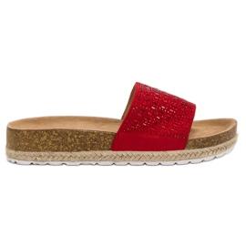 Seastar Chaussons Rouges Avec Zircons