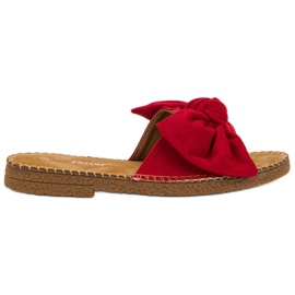 Seastar Chaussons Rouges Avec Noeud