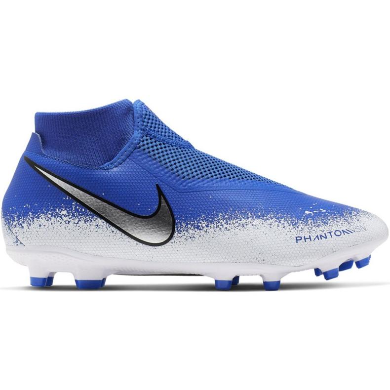 Chaussures de football Nike Phantom Academy DF FG / MG M AO3258-410 multicolore bleu