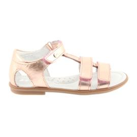 Sandales pour filles, or rose, Bartek 56016
