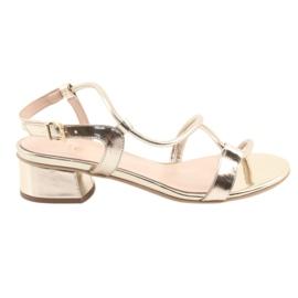 Sandales dorées à talons Edeo 3386 jaune