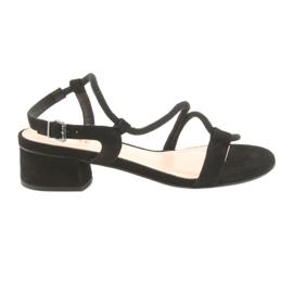 Sandales noires à talons hauts Edeo 3386