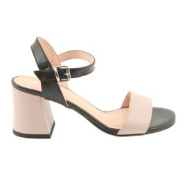 Sandales pour femmes Edeo 3339 poudre / noir