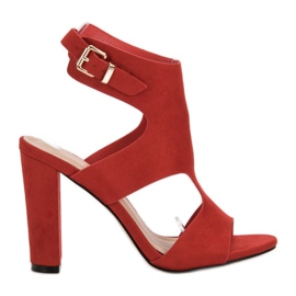 Ideal Shoes Talons Sexy rouge