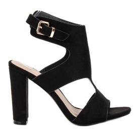 Ideal Shoes noir Talons Sexy