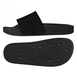 Noir Adidas Originals Adilette pantoufles W DA9017