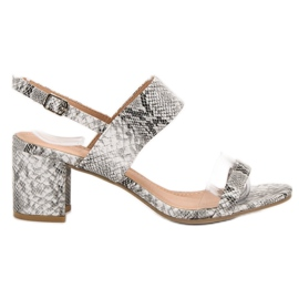 Ideal Shoes Sandales à la mode pour femmes gris
