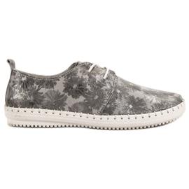 Filippo gris Chaussures en cuir nouées