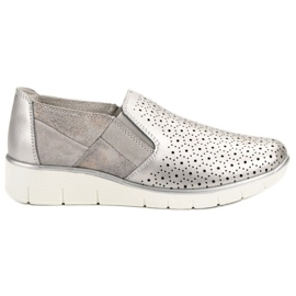 Filippo gris Silver Slip On chaussures