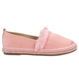 Lily Shoes Espadrilles À Franges rose