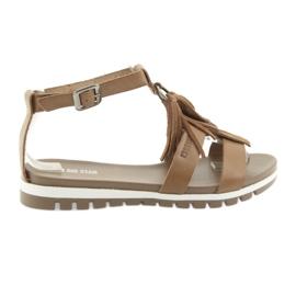Brun Chaussures Big Star boho 274958